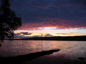 Sunset on Gunflint Lake